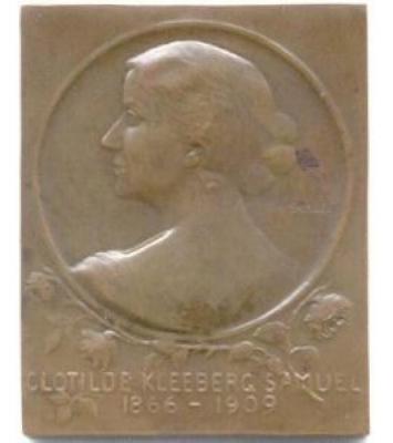 Clotilde Kleeberg-Samuel Plaque Front/Obverse