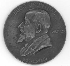 Hugo Grünthal 60th Birthday Medal