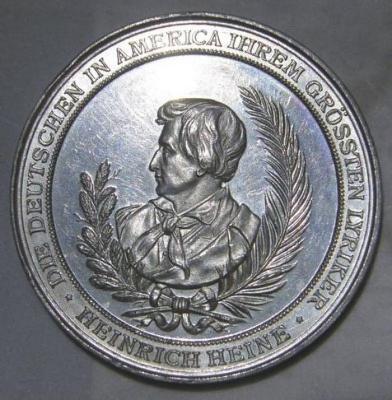 Heinrich Heine Memorial Medal Front/Obverse