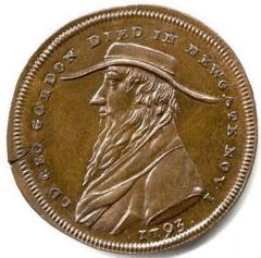 Lord George Gordon  Conder ½ Token from England