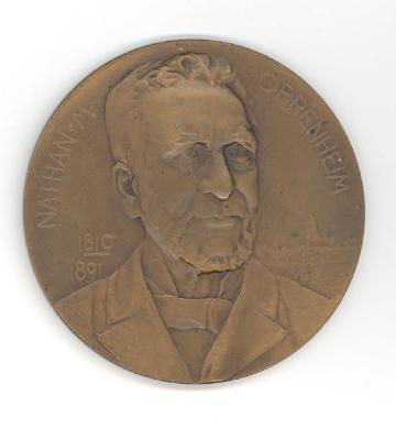 Nathan M. Oppenheim Medal Front/Obverse
