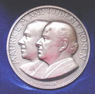 Maurice M. and Ruben P. Rosen Medal Commemorating Their Dedicating a Building at the Technion University in Haifa, Israel Front/Obverse