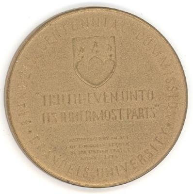 Louis Brandeis Medal Back/Reverse