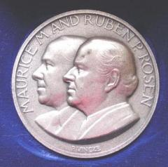 Maurice M. and Ruben P. Rosen Medal Commemorating Their Dedicating a Building at the Technion University in Haifa Israel