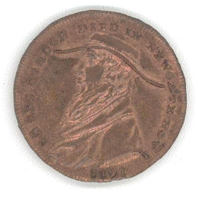 Lord George Gordon Token from England Front/Obverse