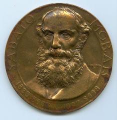 Rabbi Sabato Morais 100th Birthday Medal