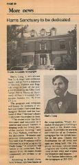 Articles regarding the Dedication of the North  Avondale Synagogue Albert & Sadye Harris Memorial Sanctuary