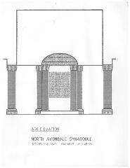 Architectural Plans for the Renovation of the North Avondale Synagogue Albert & Sadye Harris Memorial Sanctuary