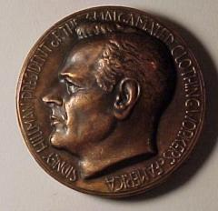Sydney Hillman / President of the Amalgamated Clothing Workers of America Medal
