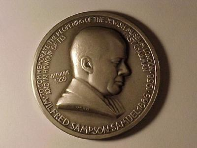 Wilfred Sampson Samuel – Jewish Museum of London Medal Front/Obverse