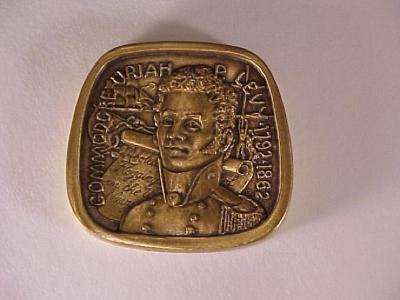 Uriah Phillips Levy Medal from Jewish-American Hall of Fame Series Front/Obverse