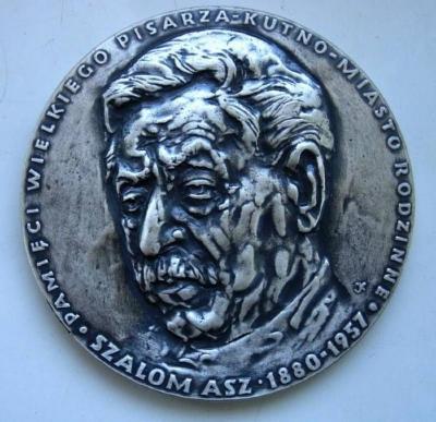Shalom Asch (Yiddish writer) Medal Front/Obverse