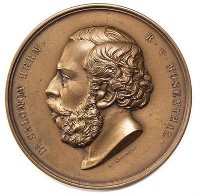Salomon Hermann von Mosenthal Medal Front/Obverse