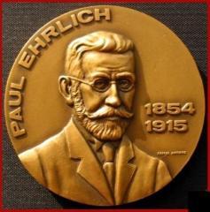 Paul Ehrlich / 1908 Nobel Prize Medicine Medal