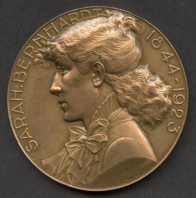 Sarah Bernhart Medal Front/Obverse