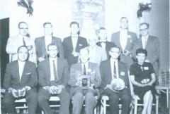 """Ernst """"Ernest"""" Rothschild receiving Philatelic Prize"""