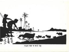 Set of M. Gur Arie Bezalel 1930s Silhouette Postcards from Palestine
