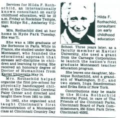Hilda Rothschild - obituary