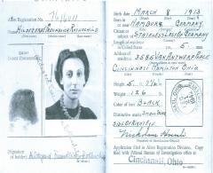 Certificate of Identification for Hilda Rothschild