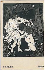 """E. M. Lilien Postcard """"Simson"""""""
