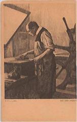 "E. M. Lilien Postcard ""Bei Der Arbeit"" (""At Work"")"