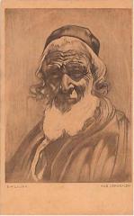 """E. M. Lilien Postcard """"Aus Jerusalem"""" (""""From Jerusalem"""")"""