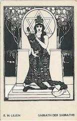 "E. M. Lilien Postcard ""Sabbath Der Sabbathe"" (""Sabbath of Sabbaths"")"