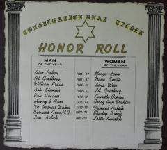 Honor Roll for Congregation B'Nai Tzedek (Cincinnati, Ohio)