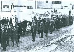 Protest against Camp Confinement of Survivors