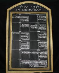 Synagogue Yahrzeit Board