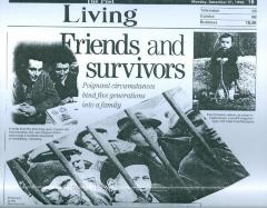 """Friends and Survivors: Poignant circumstances bind five generations into a family"" - article published in The Post"