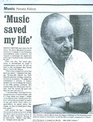 """""""Music Saved My Life"""" - article published in the Jerusalem Post Entertainment Magazine"""