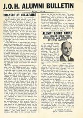 J.O.H. Alumni Bulletin Fall 1940