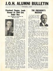 J.O.H. Alumni Bulletin January 1940