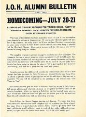 J.O.H. Alumni Bulletin: Homecoming July, 1940