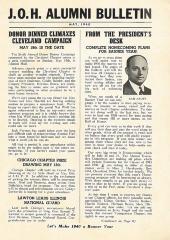 J.O.H. Alumni Bulletin May, 1940 (Cincinnati, OH)